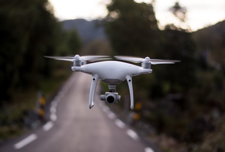 Drône pour illustrer la maturité numérique des territoires
